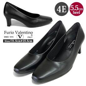 【送料無料】Furio Valentino 4E パンプス 通勤 リクルート 入学式 フォーマル 仕事 冠婚葬祭 黒 痛くない パンプス 6451 ブラック