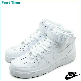 Nike air force one mid 07 NIKE AIR FORCE 1 MID 07 black / white WHITE/WHITE 315123-111 mens sneakers
