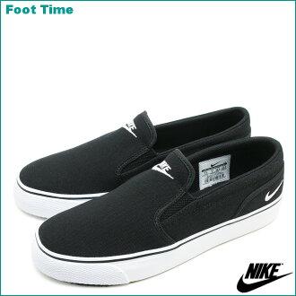 耐克妇女朱鹭女式无袖内衣帆布NIKE WMNS TOKI SLIP CANVAS黑色/白BLACK/WHITE 724770-010女士运动鞋