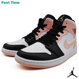 ナイキ エア ジョーダン 1 ミッド NIKE AIR JORDAN 1 MID ホワイト/アークティックオレンジ-ブラック WHITE/ARCTIC ORANGE-BLACK 554724-133 靴 メンズ靴 スニーカー