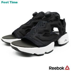 REEBOK INSTA PUMP FURY SANDAL WOMEN リーボック インスタ ポンプ フューリー サンダル WOMEN BLACK/WHITE/SILVER MET ブラック/ホワイト/シルバー DV9699 靴 メンズ靴 レディース靴 サンダル