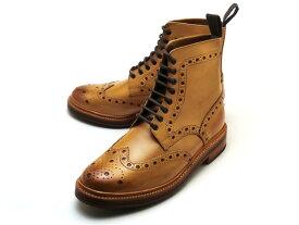 グレンソン フレッド ウイングチップ ブーツ タン カーフレザー メンズ シューズ 靴 GRENSON FRED 110011 TAN CALF LEATHER