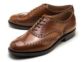 チャーチ バーウッド ポリッシュドバインダー サンダルウッド 靴 ブラウン ウィングチップ カーフ メンズ Church's Burwood Polished binder Sandalwood MADE IN ENGLAND