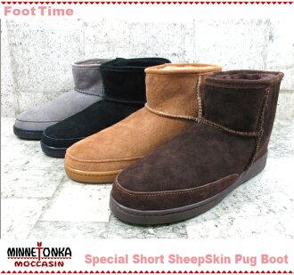 Minnetonka special short Sheepskin パグブーツ MINNETONKA Special Short SheepSkin Pug Boot 3571S 3578S 3579S 3571TS 4color