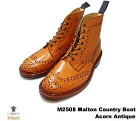 トリッカーズ カントリーブーツ モルトン エイコン アンティーク ウィングチップ メンズ ブーツ ダイナイトソール Tricker's M2508 Malton Country Boot Acorn Antique トリッカーズ