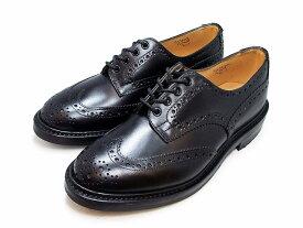 トリッカーズ バートン カントリーブーツ ウィングチップ ブラックボックスカーフ メンズ ブーツ Tricker's M5633 Bourton Country Shoe Black Box Calf
