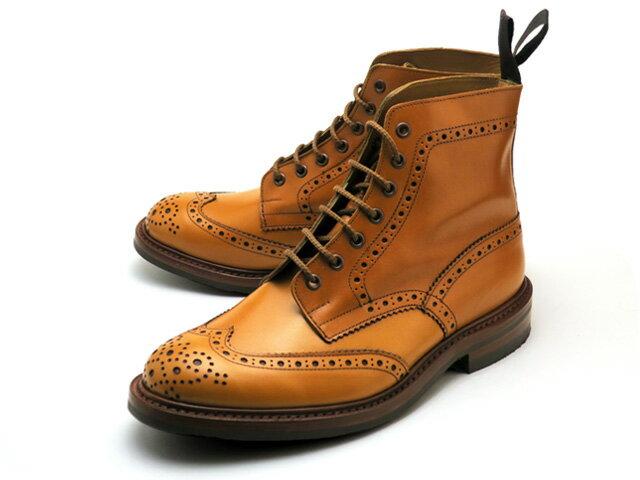 トリッカーズ カントリーブーツ ストウ ウィングチップ エイコン アンティーク ダイナイトソール メンズ ブーツ Tricker's M5634 Country Boot Stow Acorn Antique