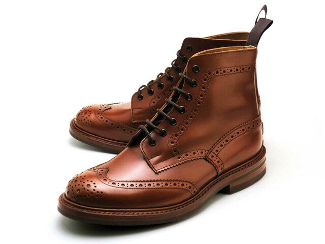 トリッカーズ カントリーブーツ ストウ ウィングチップ マロン アンティーク ダイナイトソール メンズ ブーツ Tricker's M5634 Country Boot Stow Marron Antique