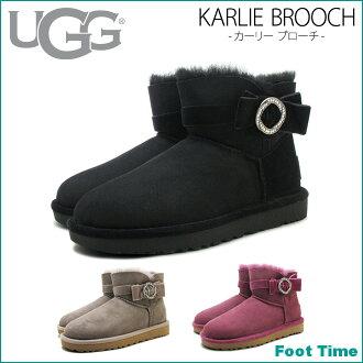 AG 卡莉胸针 UGG KARLIE 胸针 1012335 3 色 SYGR BOKIG 黑人妇女的羊皮靴子羊皮