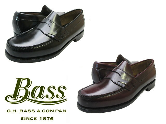 【バス ローガン】 G.H BASS LOGAN BLACK BURGUNDY WINE