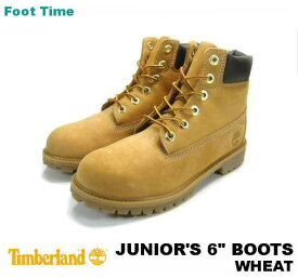 "TIMBERLAND 12909 JUNIOR'S 6"" BOOTS【ティンバーランド ジュニア 6インチブーツ】WHEAT"
