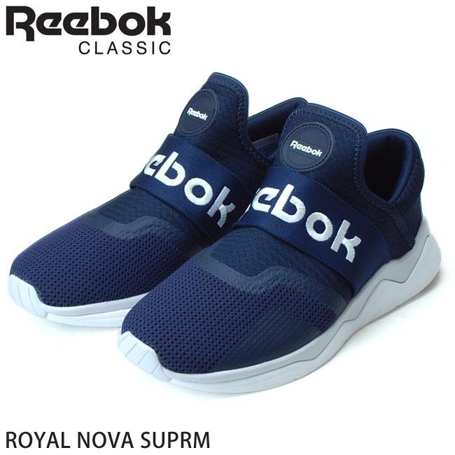【送料無料】リーボック Reebok ROYAL NOVA SUPRM スリッポン スニーカー メンズ CN7491 ノヴァ シュプリーム ネイビー(1812)(北海道・沖縄は追加送料がかかります)