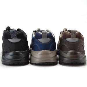 スポルディングSPALDINGメンズスニーカーJIN3320幅広6Eワイドブラックダークブラウンネイビーサイドジップ甲高運動靴(1902)(E)