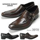 【ポイント20倍】キャサリンハムネット KATHARINE HAMNETT 3970 靴 紳士靴 メンズビジネスシューズ サイドストラップ …