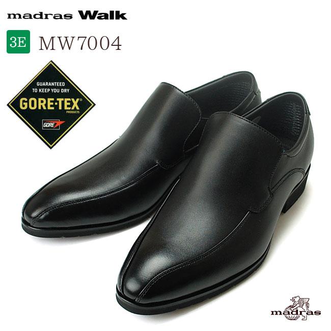 【送料無料】マドラスウォーク ゴアテックス MW7004 メンズ ビジネスシューズ 本革 3E 防水 スリッポン 紳士靴 madras Walk GORE-TEX マドラス (1707)