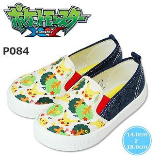 宠物小精灵皮卡丘字符鞋滑口袋怪物 P084 孩子鞋日本制造 (朝日)