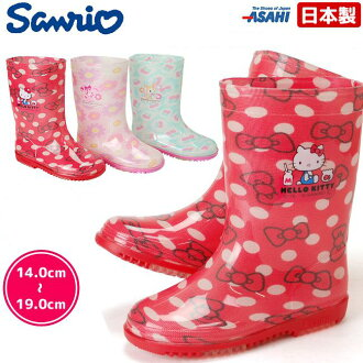 Sanrio rain boots Hello Kitty sweets Ribbon humming Mint R283 kids rain children shoes made in Japan Puss in boots
