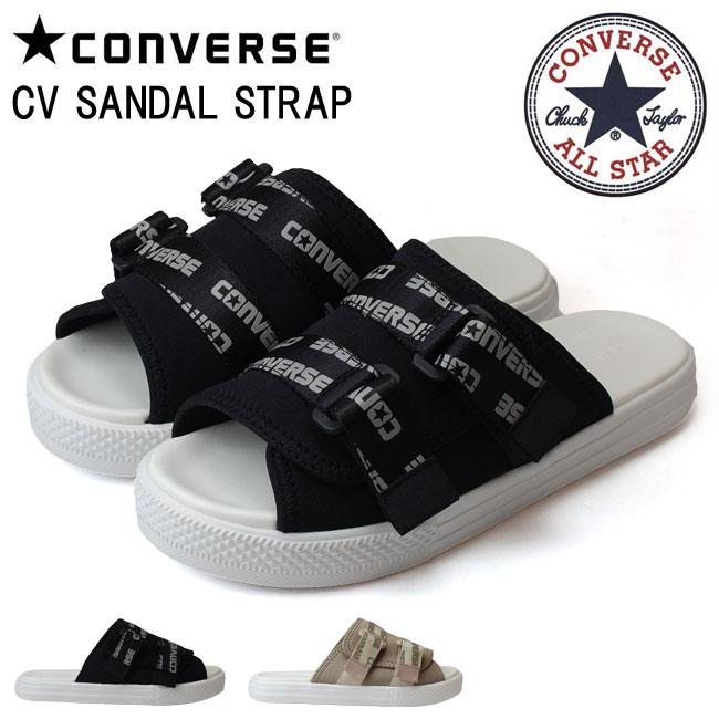 CONVERSE コンバース サンダル ストラップ レディース メンズ サンダル CV SANDAL STRAP BK ブラック BE ベージュ CV サンダル オールスター ストラップ (1806)