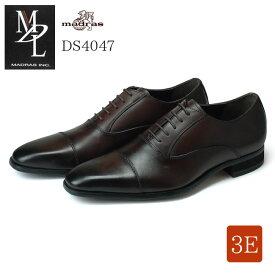 【送料無料】エムディエル DS4047 メンズビジネスシューズ MDL madras ダークブラウン DBR 3E ストレートチップ 内羽根 本革 紳士靴 (1805)(E)