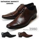 【ポイント10倍】キャサリンハムネット KATHARINE HAMNETT 3980 靴 紳士靴 メンズビジネスシューズ 外羽根 ストレート…