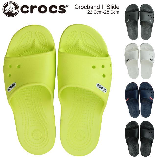 【在庫限り】クロックス クロックバンド 2.0 スライド メンズ レディスサンダル CROCS Crocband II Slide 204108 38L 07I 02S 4CC 103 テニスボールグリーン ストレートグレー ブラック ネイビー ホワイト (1805)