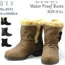 【送料無料】a.v.v 晴雨兼用 防水 ショート ブーツ レディース AVV 8041 ベージュ グレー ダークブラウン ブラック S M L LL 防滑 超軽量 暖かい ウィンターブーツ ボア ふわふわ もこもこ 冬 雪 雨 婦人 靴 (1910)