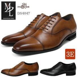 【送料無料】エムディエル DS4047 メンズビジネスシューズ ストレートチップ 内羽根 本革 3E MDL マドラス madras 紳士靴(北海道・沖縄は追加送料がかかります)