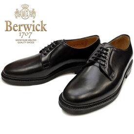 Berwick 靴 バーウィック プレーントゥシューズ 4406 ブラック コードバン コードヴァン ダイナイトソール スペイン製 ビジネスシューズ メンズ 本革 送料無料 【あす楽対応】