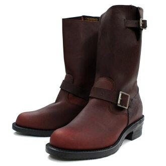 奇珀瓦靴奇珀瓦 4363BUR 1940年 11 英寸原工程师靴 [艮] 工程师靴真正保修证书与美国制造的男式工作启动