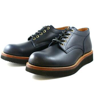 Locking Shoes Foot monkey(フットモンキー) 牛津鞋 型号: 1015海军蓝 圆头 Vibram鞋底 男士 散步 靴子 Boot Mkcay(マッケイ)制造方法  鞋底  可更换 日本产 日本生产 邮购