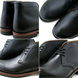 ロッキンシューズbyフットモンキーChukkaBoots【1027/ブラック】メンズチャッカブーツmen'sシューズ革靴送料無料ビブラムソールラギッドスタイル正規品MadeinJapan日本製めんずしゅーず大人靴くつ