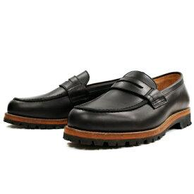 Locking Shoes ロッキングシューズ by FootMonkey フットモンキー ローファー PENNY LOAFER 1028 (ブラック) ビブラムモンターニャソール カジュアルシューズ メンズ 革靴 本革 日本製 送料無料 men's shoes【コンビニ受取対応】