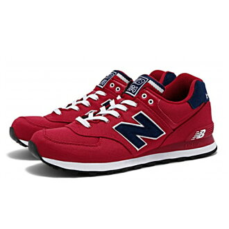 新平衡 574 新平衡 ML574 POR [红色] 运动鞋男士女性男性女性男士 leadis 运动鞋 newbalance 2015SS