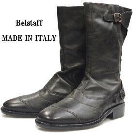 【エントリーでポイント最大35倍】 【SALE:50%OFF】 Belstaff ROADMASTER 55 ベルスタッフ レザー ロードマスター アンティークブラック バイカーブーツ メンズ ブーツ 本革 エンジニアブーツ 革靴 バイク靴 イタリア製 送料無料 【あす楽対応】