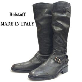【エントリーでポイント最大35倍】 【SALE:50%OFF】 Belstaff TRIALMASTER ベルスタッフ レザー トライアルマスター アンティークブラック バイカーブーツ メンズ ブーツ 本革 エンジニアブーツ 革靴 バイク靴 イタリア製 送料無料 【あす楽対応】