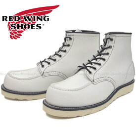 "RED WING 8871 レッドウィング クラシック ワーク 限定生産 [White Leather] Classic Work 6"" Moc-toe ホワイト ワークブーツ メンズ 本革 送料無料 2019秋冬新作 【純正ケア用品付】 【コンビニ受取対応】"