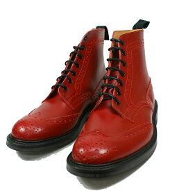 【エントリーでポイント最大44倍】 正規品 トリッカーズ カントリーブーツ Tricker's ウイングチップブーツ 【Style:M2508(レッド ダイナイト)フィッティング:5】送料無料 英国靴 革 レザー 靴 カントリーブーツ モルトン Malton 【あす楽対応】【コンビニ受取対応】