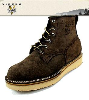 VIBERG [vayburgh] 鲍勃 · 猫山猫 36 布朗 roughout 明智:: EE 男式皮革工作靴 Vibram 2021 鞋脚趾 Wiberg viberg 预制件在加拿大加拿大绒面麂皮存储区中的植物鞋