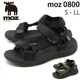 【セール】モズ サンダル メンズ 靴 スポーツサンダル 黒 ブラック ネイビー カーキ 軽量 軽い クッション スポサン おしゃれ moz 0800