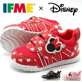 スニーカー キッズ ジュニア 靴 ブラック 黒 レッド 赤 ピンク ディズニー ミッキー ミニー 女の子 可愛い 軽量 軽い ベルクロ 外せるインソール イフミー IFME IFME 30-1323
