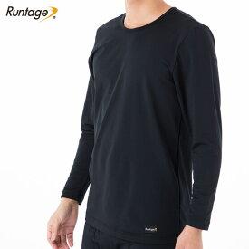 Runtage(ランテージ) サーモニクス トップス スポーツインナー メンズ/レディース ブラック M/L/LL(メール便不可)