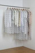 日本製ティッシュ式洋服カバー30枚セット(モダンフラワー柄)衣装カバー衣類カバー不織布フォーラルポイント10倍