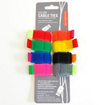 ColorCableTiessetof8(カラーケーブルタイ)結束バンドケーブルタイ1セット8個マジックテープ式