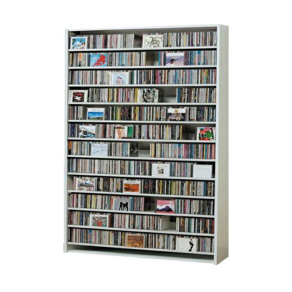 【ポイント10倍】CDラック CD STOCKER ショップ気分でCDを大量収納! CS1284 1284枚 DVD560枚【送料無料】