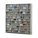 【ポイント10倍】CDラック CD STOCKER ショップ気分でCDを大量収納! CS1668 1668枚 DVD720枚【送料無料】