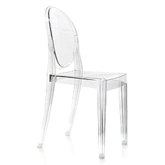 Kartell (cartel) VICTORI GHOST ( Victoria ghost ) personal Chair person,  Crystal white black pink blue