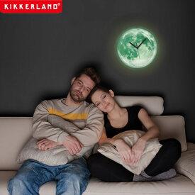 【ポイント10倍】ムーンライト 掛け時計 キッカーランド ムーンライトクロック 蓄光 月