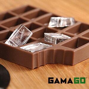 【ネコポス便200円】氷 Iced Chocolate flexible ice cube tray アイスドチョコレート アイスキューブトレイ チョコレート 製氷器 製氷皿 GAMAGO ガマゴー