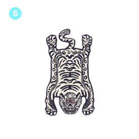 ラグ チベタンタイガーラグ ホワイト スモール Tibetan Tiger Rug Small