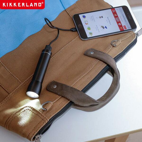 【あす楽 ポイント10倍】フラッシュライトパワーバンク Flashlight Power Bank モバイルバッテリー 懐中電灯 Kikkerland キッカーランド